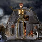 12 Ft Foot Giant Inferno Skeleton W/ Animated Lcd Eyes Halloween Prop Homedepot