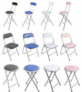 Folding Breakfast Bar Stool Foldable Padded Chair Seat Office Event Garden Party