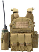 Dmaip Hunting Molle Tactical Vest Security Training Pouch Protective Waistcoat