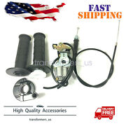 Carburetor And Handle Grip And Throttle Cable For Suzuki Jr50 1978-2004 Mini Bike