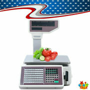 Commercial Digital Price Computing Scale With Thermal Label Printer For Market
