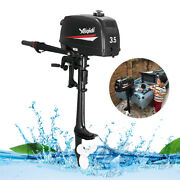 2 Stroke 3.5hp Outboard Motor Boat Engine W/ Water Cooling System Manual Start