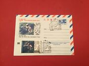 Russia 1966 Space Travel Air Mail Rocket Cancel Stamp Cover R36325