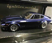 Ignition Model Diecast 1/18 Fairlady Z S30 Blue Mini Car Vintage Free Shipping