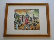 Thabo Nyelele Watercolor Urban Ghetto Africa Regionalism Coca Cola Sign Village