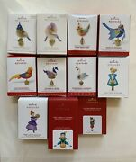 Hallmark Twelve 12 Days Of Christmas From 2011 To 2021 - 11 Ornaments Series Lot