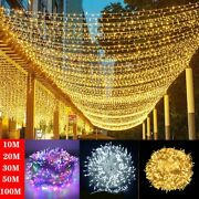 Fairy String Led Lights 10m-100m For Christmas Treeparty Indoor And Outdoor Dandeacutecor