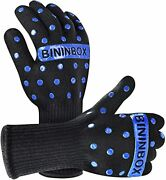 Bbq Gloves,oven Gloves1472℉ Extreme Heat Resistant, Food Grade Kitchen Grill