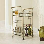 Sinclair Antique Gold 2-tier Serving Cart By Silverwood Gold
