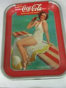 Authentic Coke Coca Cola 1939 Advertising Serving Tin Tray Near Mint A-836