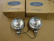 Nos Oem Ford 1965 1972 Accessory Fog Lights Lamps Mustang Truck Fairlane Galaxie