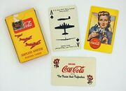 1943 Vintage Coca-cola Ww2 Military Airplane Spotter Playing Cards Deck Rare