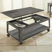 Springdale 48-inch Rectangle Lift Top Coffee Table By Brown Industrial Casual