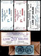 4 Frb Banknote Brick Pack Labels+seal 1969-74 20/5/1 Fed Res Notes Ppd-sandh-us