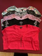 5 Torrid Tops Lot - Four Size 0 Tops And One Size 1 Top 4 Only Worn Once