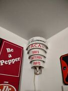 Vintage We Recommend Rca Tubes Batteries Parts Working Lighted Advertising Sign