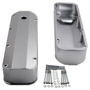 Aluminum Cam Rocker Covers Stain Finish For Ford V8 Bbf 429 460 Engine Big Block