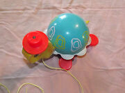 Vintage Toy 1962 Fisher Price Pull Toy Turtle 773