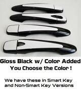 Gloss Black And Color Handle Overlays Fits 2014 - 2020 Nissan Rogue You Pick Clr