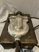 Vintage Malted Waffle Maker Fs Carbon Rugged 1 Cast Iron Commercial Heavy-duty I