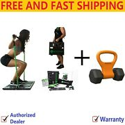 Bodyboss 2.0 Portable Home Gym Workout + Kettle Gryp Adjustable Weight Grip
