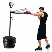 Boxing Heavy Bag Set Mma Freestanding Punching Bags Height 61-74 Inch Black
