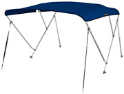 Msc 3 Bow Bimini Boat Top Cover With Rear Support Pole And Storage Boot, Color 3