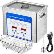 3.2l Ultrasonic Cleaner With Heater Timer 40khz Dentures Solution On Sale