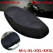 Motorcycle Seat Cover Cushion Electric Bike Protector Mat Mesh Net Pad Accessory