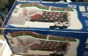 Telco Sleeping Santa In Box Tested Works Great No Boots
