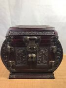 Chinese Antique Vintage Wooden Rosewood Jewelry Box Dressing Box Collectibles
