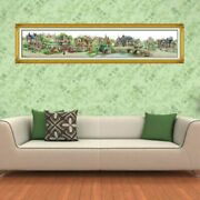 European Town Embroidery Cross Stitch Printed Needlework Diy Counted Home Decor