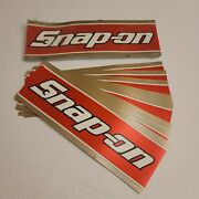 Lot Of 41 Vintage Snap-on Tools Bumper Stickers 11 X 3.5 Red Gold Racing Decal