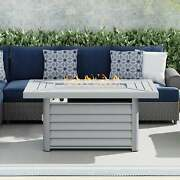 Wevok Rectangle Aluminum Propane Fire Pit Table By Havenside