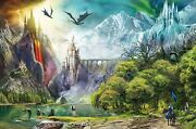 Jigsaw Puzzle Fantasy Mythology Medieval Reign Of Dragons Huge 3000 Piece New