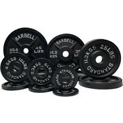 2 Barbell Olympic Weight Plates Barbell Set Cast Iron 2.5/5/10/25/35/45 Lbs New