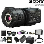 Sony Nex-fs700r Super 35 Camcorder With 64gb Memory Card Extra Battery And