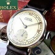 Luxury Rolex Marconi Oh Pre/ Off-white Dial Boys 1910 Antique Menand039s Watches