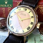 Luxury Rolex Marconi Oh Already 1910 Antique Men's Watch Beautiful Tone Dial