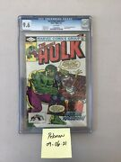 The Incredible Hulk 271 Cgc 9.6 White Pages - 1st Appearance Rocket Racccoon