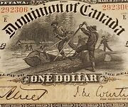 1898 Dominion Of Canada 1. Rare Courtney Signed. Ones Outward On Reverse.