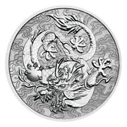 1 Oz 2021 Australia Chinese Myths And Legends   Dragon Silver Coin