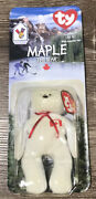 Maple The Bear Mcdonald's Ty Beanie Tag Errors Rare Retired Completely Unopened