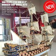 Hobby Scale 1/50 Luxury Classic Sail Boat 1200 Mm 47.2 Wooden Ship Model Kits
