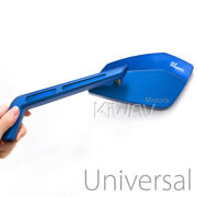 Magazi Mirrors Cnc Aluminum Sharp Look Cleaver Blue 10mm And 5/16 Motorcycle Andepsilon