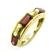 Jewelry Garnet Ring 18k Yellow Gold Red Used 10