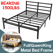 King Full Queen Twin Bed Frame With Headboard/mattress Heavy Duty Foundation