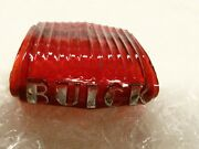 1937 Buick Trunk Ornament Glass Lens W/chrome Letters Buick Nice