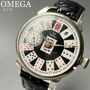 Good Operation Oh Already Omega Antique Wristwatch Mens Hand-wound Trump Pattern