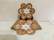 Villeroy And Boch = Ginger Fancy Mini Plates Gingerbread = Set Of Two